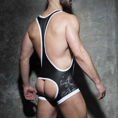 Addicted Camo Mesh Open Singlet M,L