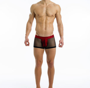 Modus Vivendi Transparante Rode Boxer S,M,L