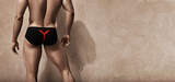 Gigolo Joe II Brief Red On Black (LXL) _