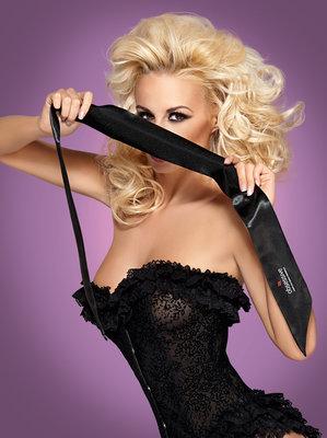 Zwarte Erotische Blinddoek