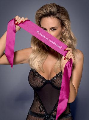 Roze Erotische Blinddoek