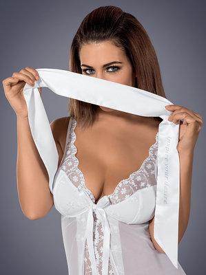 Witte Erotische Blinddoek